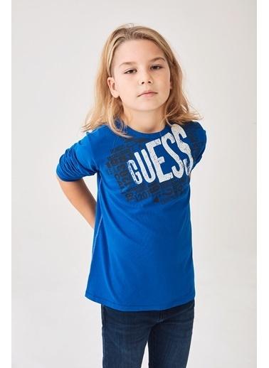 Guess Erkek Çocuk Mavi T-Shirt Mavi